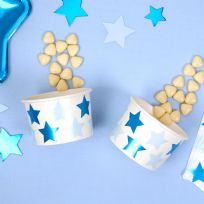 Little Stars Blue Paper Treat Tubs (8)